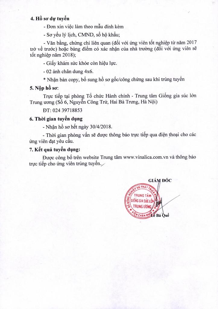 Thông báo tuyển dụng nhân sự Kế toán (p2)